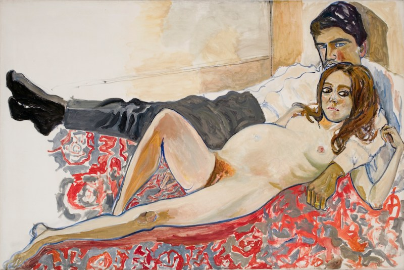 Pregnant Julie and Algis, 1967. Alice Neel: Freedom, reviewed at Riot Material Magazine.