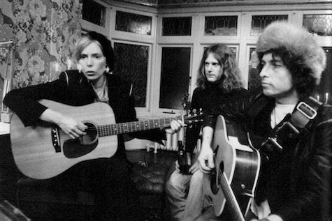 Joni Mitchell and Bob Dylan. Rolling Thunder Revue: A Bob Dylan Story by Martin Scorsese is reviewed at Riot Material, LA's premier magazine for art and film.