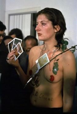 "From Abramovic's ""Rhytm 0"" (1974)"