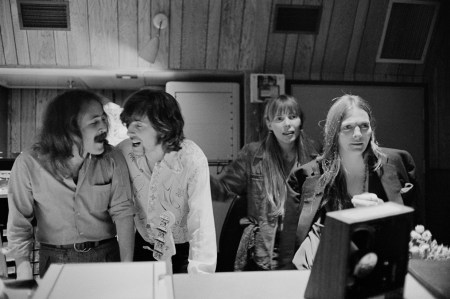 David Crosby, Graham Nash, Joni Mitchell and Judy Collins. An interview with Crosby is at Riot Material magazine.