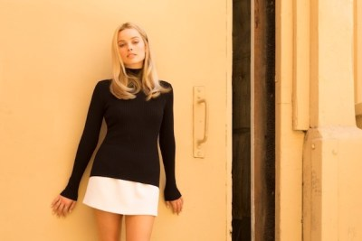 Margot Robbie in Once Upon A Time in Hollywood. A review of the film is at Riot Material, LA's premier magazine for art and film.