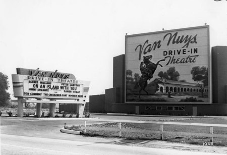 The Van Nuys Drive-in, as rememered in Tarantino's Once Upon a Time in...Hollywood