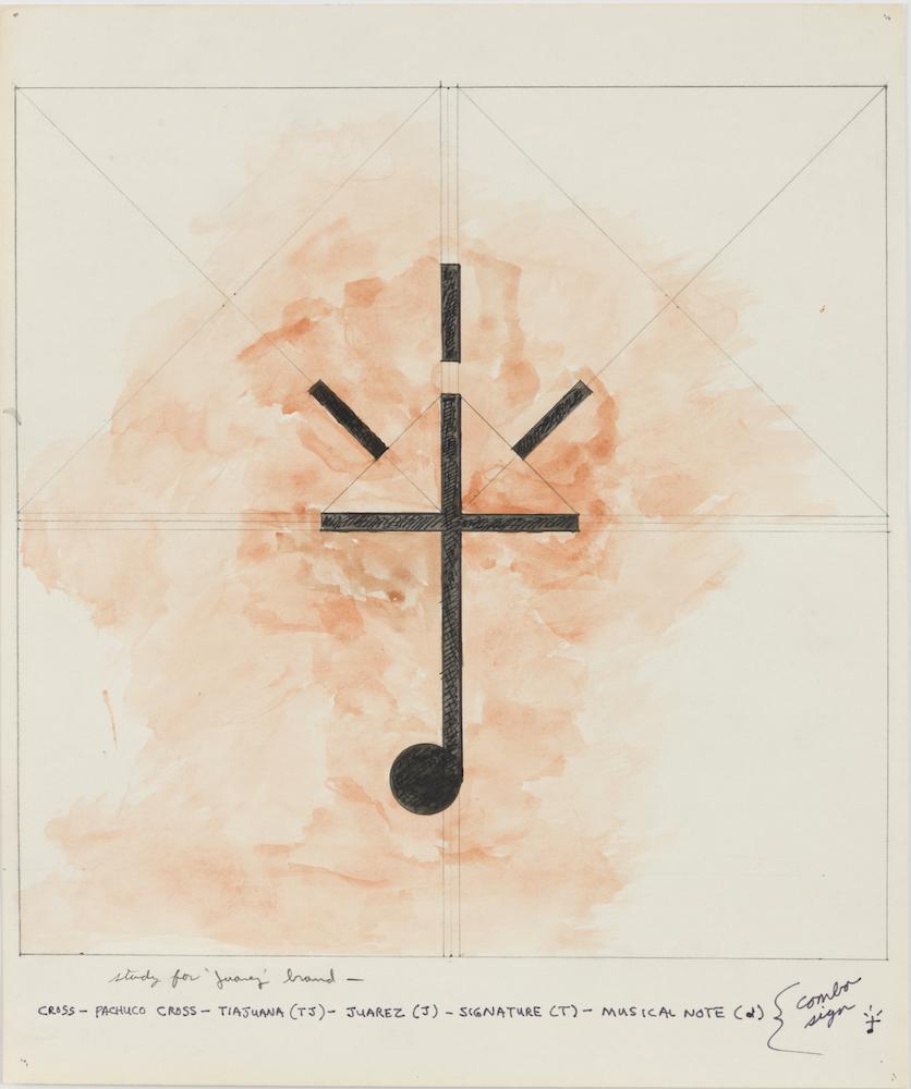 """Terry Allen's Study for """"Juarez"""" Brand, at Riot Material, LA's premier art magazine."""