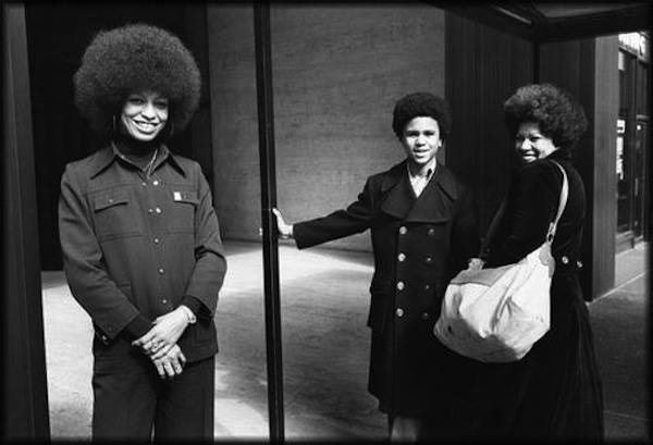 Angela Davis & Toni Morrison ca. 1974. Toni Morrison: Pieces I Am is reviewed at Riot Material, LA's premier magazine for Art and Film