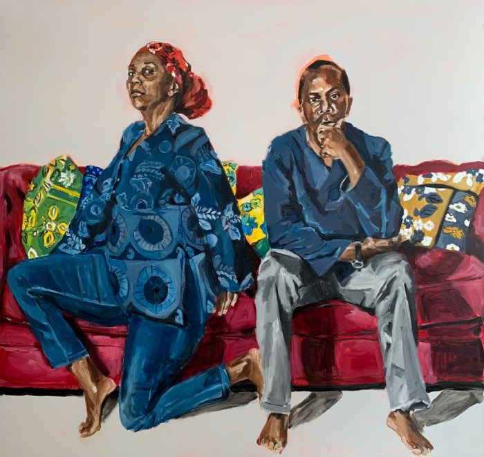 "Wangari Mathenge ""TheAscendants"" Methenge's latest exhibition at Roberts Projects, Aura of Quiet, is reviewed at Riot Material magazine."