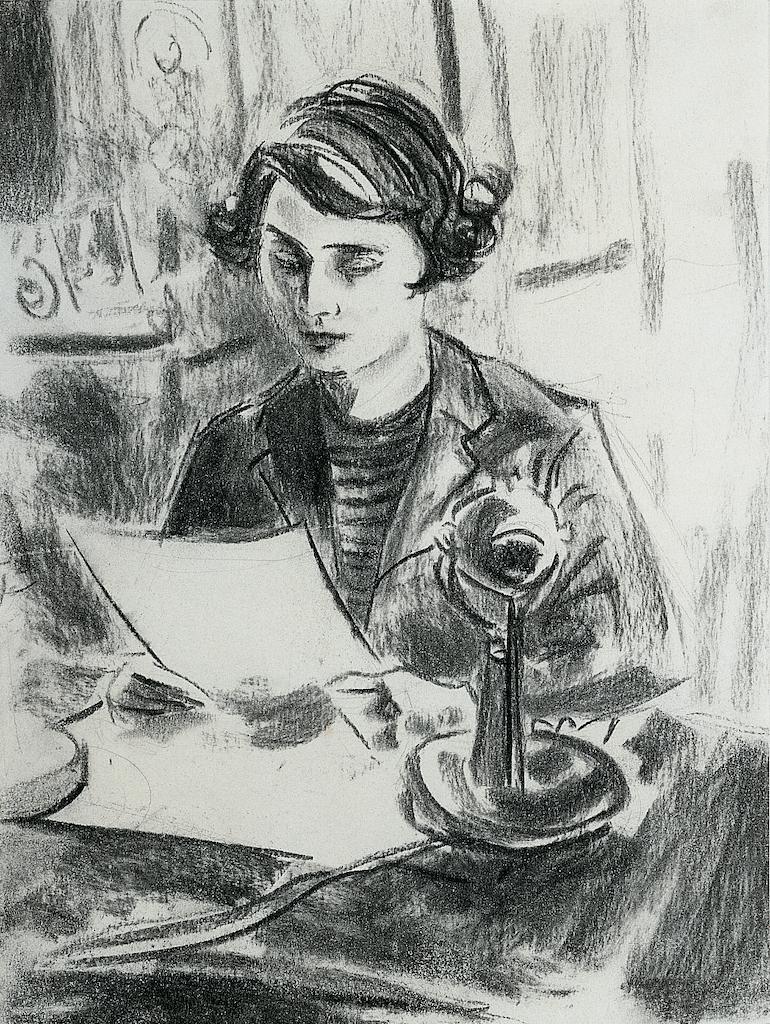 Princess Elizabeth's First Radio Address by Elizabeth Peyton, 1993.