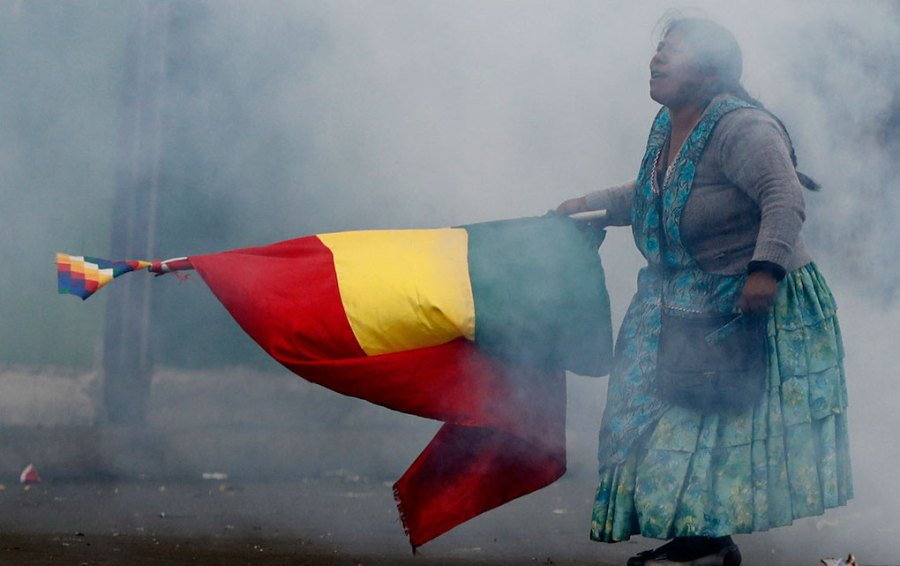 Bolivian Protests, interpreted at Riot Material
