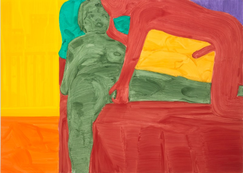 """Philipp Kremer, Couple (II-II) 2019. Kremer's """"With Lovers"""" is reviewed at Riot Material magazine."""