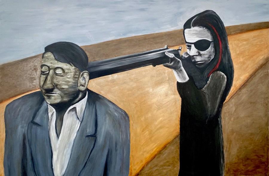 """C von Hassett, """"Field Work."""" C von's solo exhibition at Mash Gallery, DTLA, is reviewed at Riot Matrial magazine, LA's premier art magazine."""