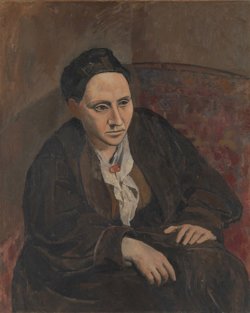 """Pablo Picasso, Gertrude Stein, 1905–1906. The Met's """"Painter of Disquiet is reviewed at Riot Material magazine."""