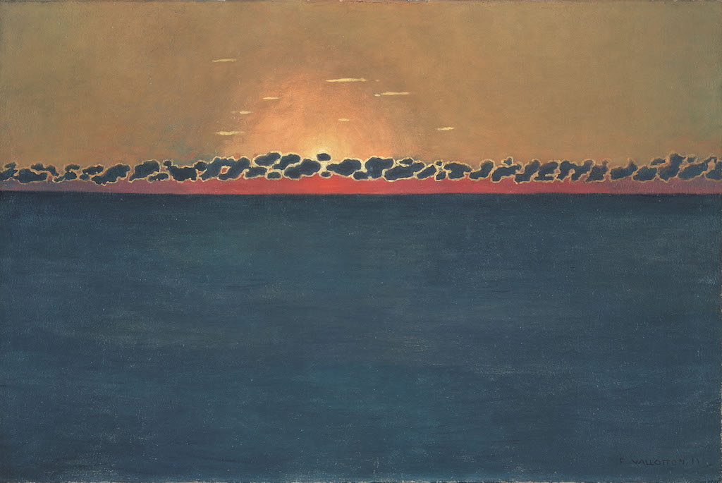 """Félix Vallotton, Sunset, Grey-blue High Sea, 1911. The Met's """"Painter of Disquiet is reviewed at Riot Material magazine."""