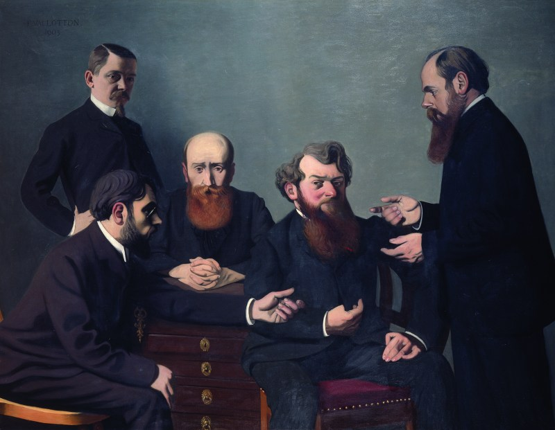 """Félix Vallotton, The Five Painters, 1902. The Met's """"Painter of Disquiet is reviewed at Riot Material magazine."""