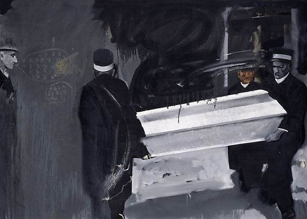 Gerhard Richter, Coffin Bearers (1963), at Riot Material