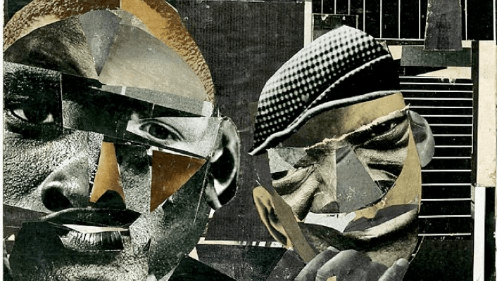 """Romare Bearden's Pittsburgh Memory, 1964. Two books on Romare Bearden, """"An American Odyssey: The Life and Work of Romare Bearden"""" and """"The Romare Bearden Reader"""" are reviewed at Riot Material Magazine"""