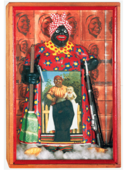 "Betye Saar, ""The Liberation of Aunt Jemima,"" 1972."