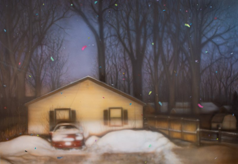 Artist Samantha Fields solo exhibition, American Dreams, is reviewed at Riot Material