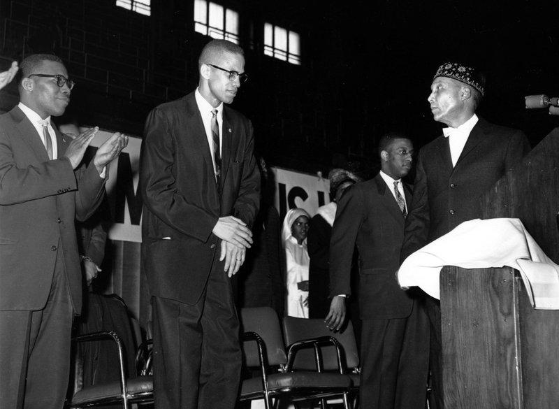 Malcolm X and Elijah Muhammad, Feb. 26, 1961