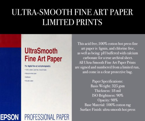 Ultra-Smooth Fine Art Paper Limited Giclee Prints