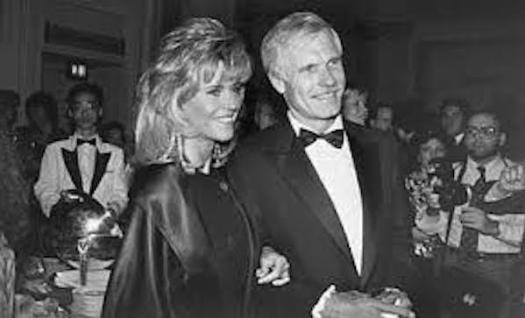 Jane Fonda with Ted Turner