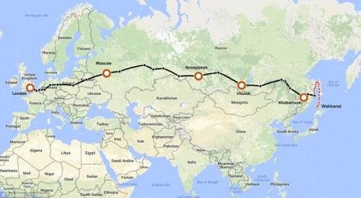 Trans-Siberian Railroad courtesy Daily Mail
