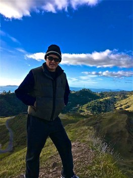 Rolando Morales enjoying nature in the Oakland Hills