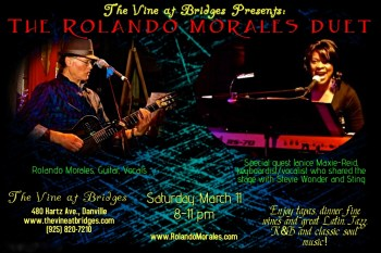 Rolando Morales and Janice Maxie-Reid perform at Vine on March 11, 2017