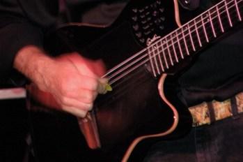 Pick hand close up of Rolando Morales