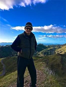 Rolando Morales enjoying the vistas in the Oakland Hills