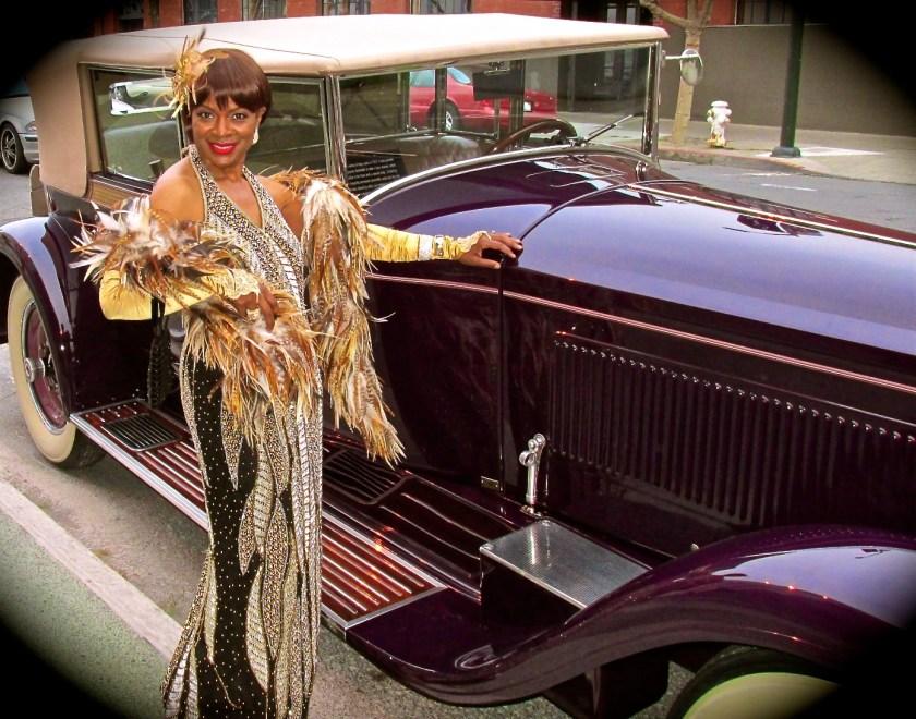 Janice Maxie-Reid in retro glam