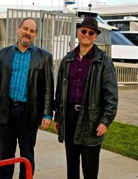 Bob Harrison and Rolando Morales at private event.