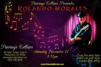 Rolando Morales performs at Pairings Cellars on Saturday, November 11, 2017
