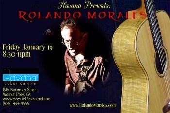 Rolando Morales performs at Havana on January 19, 2017