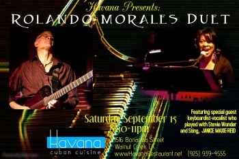 Rolando Morales will join up with the amazing Janice Maxie-Reid at Havana on September 15, 2018