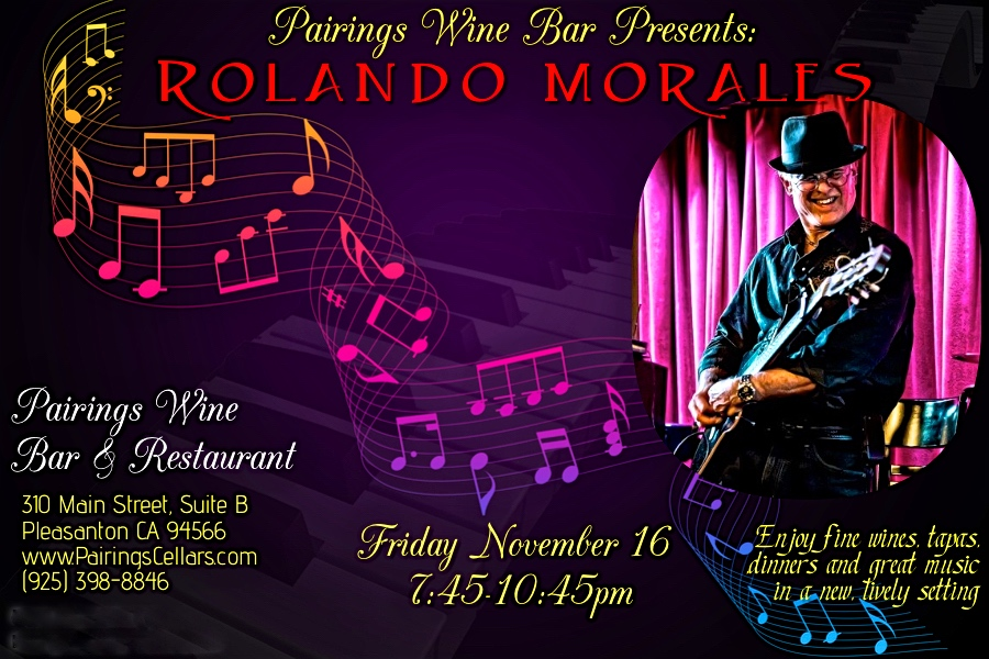 Rolando Morales performs on Friday, November 16, 2018 at Pairings Wine Bar & Restaurant in Danville