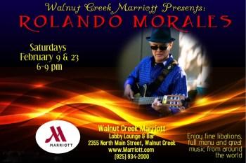 Rolando Morales performs at February 23, 2019 at the Walnut Creek Marriott