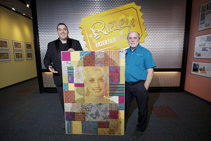 Artist Mateo Blanco and Edward Meyer, Ripley's VP of Exhibits & Archives