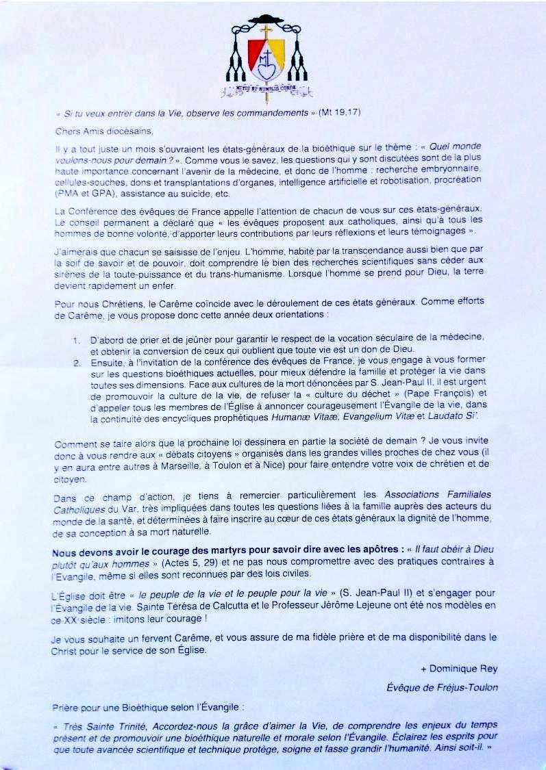 Prières Communes contre les Guerres au Moyen-orient et Autres...!! Lettre-mgr-rey-careme-bioethique