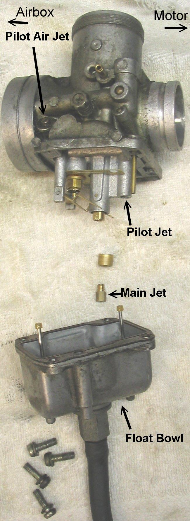 yamaha jet ski parts diagram of a sailing ship disassembly and cleaning mikuni round slide carburetor