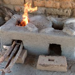 Kitchen Cook Stoves Installing Backsplash Tile Sheets Changu Moto Fuel Efficient Cookstove Ripple Africa Two Or Three Small Pieces Of Wood Are Used At A Time And The Bricks