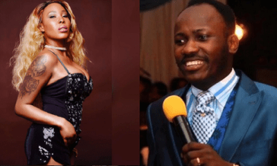 Stephanie Otobo begs Apostle Suleman over sex claims, says she was paid by politicians (Video)