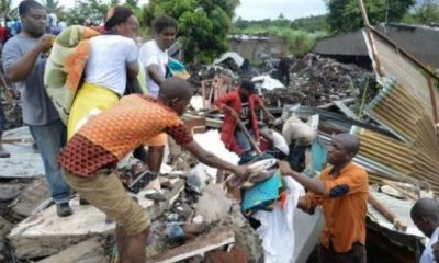 Rubbish dump collapse kills 17 people, bury homes in Mozambique