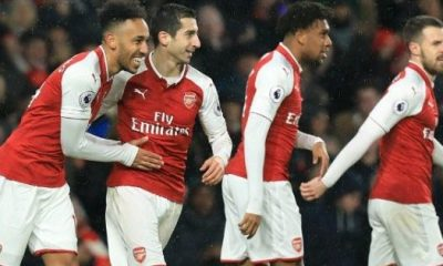 Iwobi in action, Aubameyang scores on debut as Arsenal thrash Everton