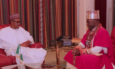 President Muhammadu Buhari on Friday played host to The Olu of Warri, His Majesty Ogiame Ikenwoli and delegation during an audience at the State House in Abuja