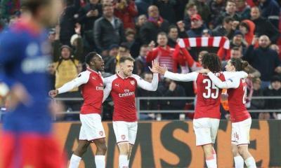 EUROPA: Iwobi's Arsenal survive Musa's CSKA scare to reach semis; Salzburg, Atletico advance