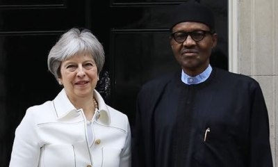 British PM May wants Buhari, others to welcome homosexuality