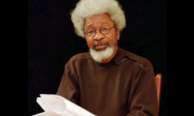 Soyinka laments that Nigeria's situation is akin to flight 593