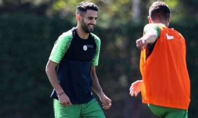 Riyad Mahrez in Man City training