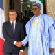 PHOTOSCENE: French President Macron meets Buhari in Abuja