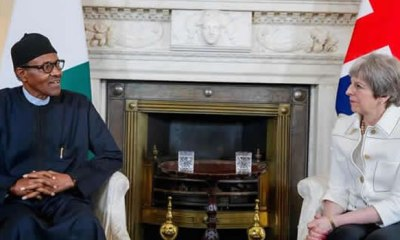 British PM arrives Nigeria, meets Buhari