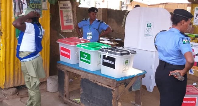 Image result for Thugs hijack ballot box in Bayelsa